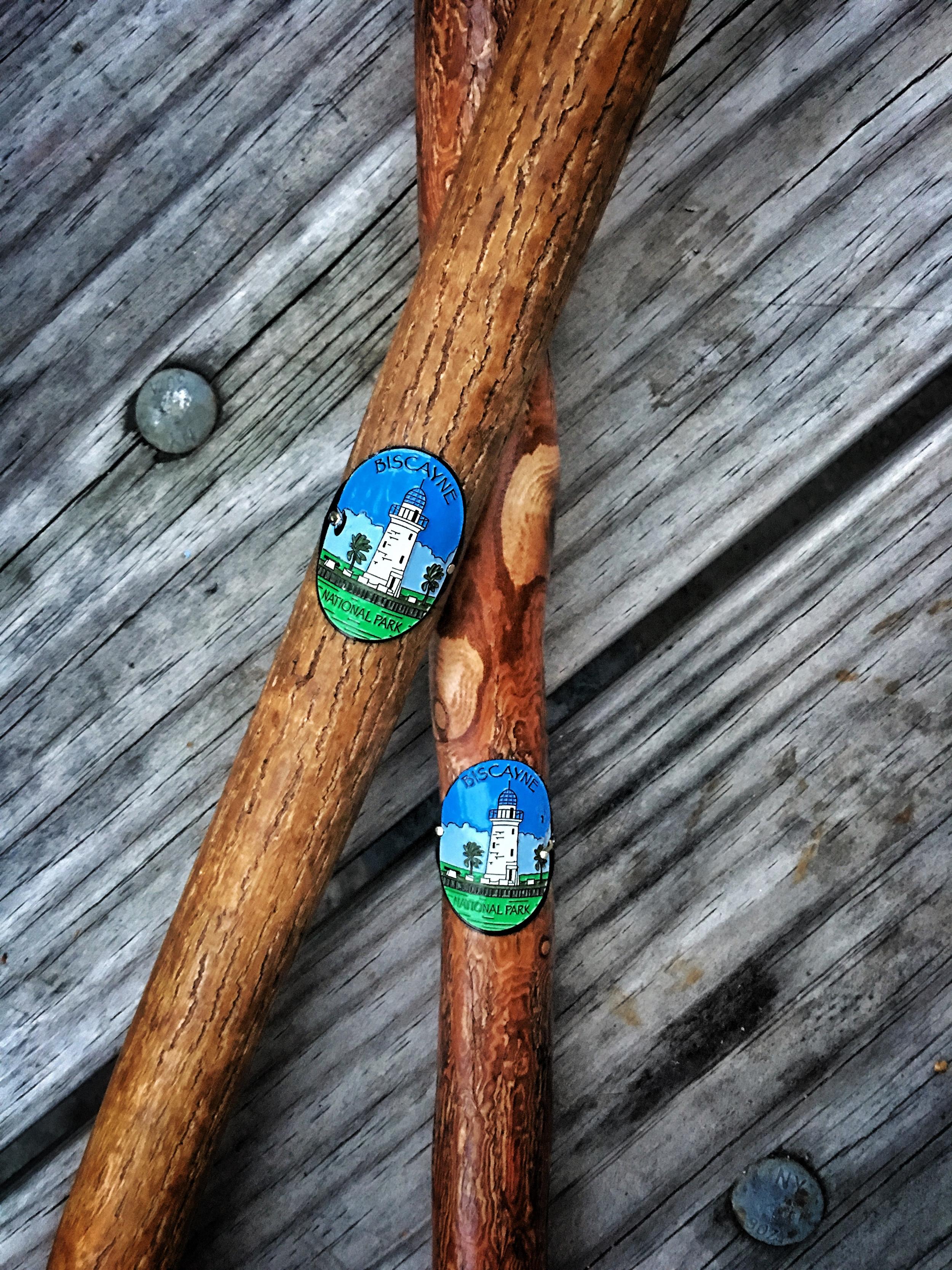 Biscayne National Park hiking stick medallions.