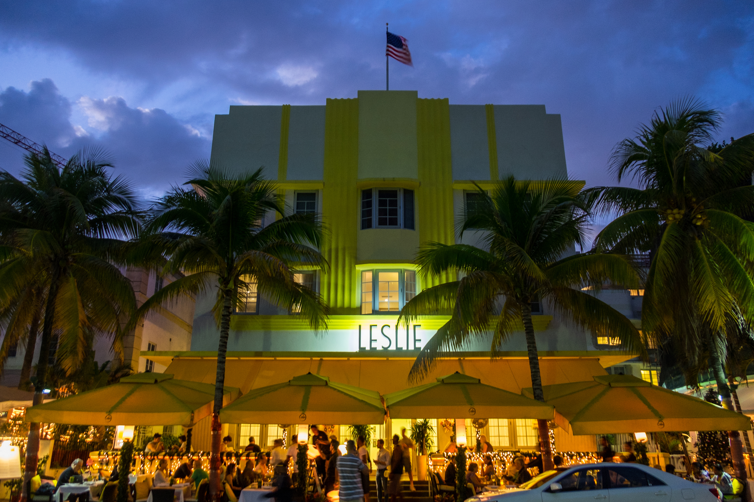 """The """"scene"""" at South Beach."""