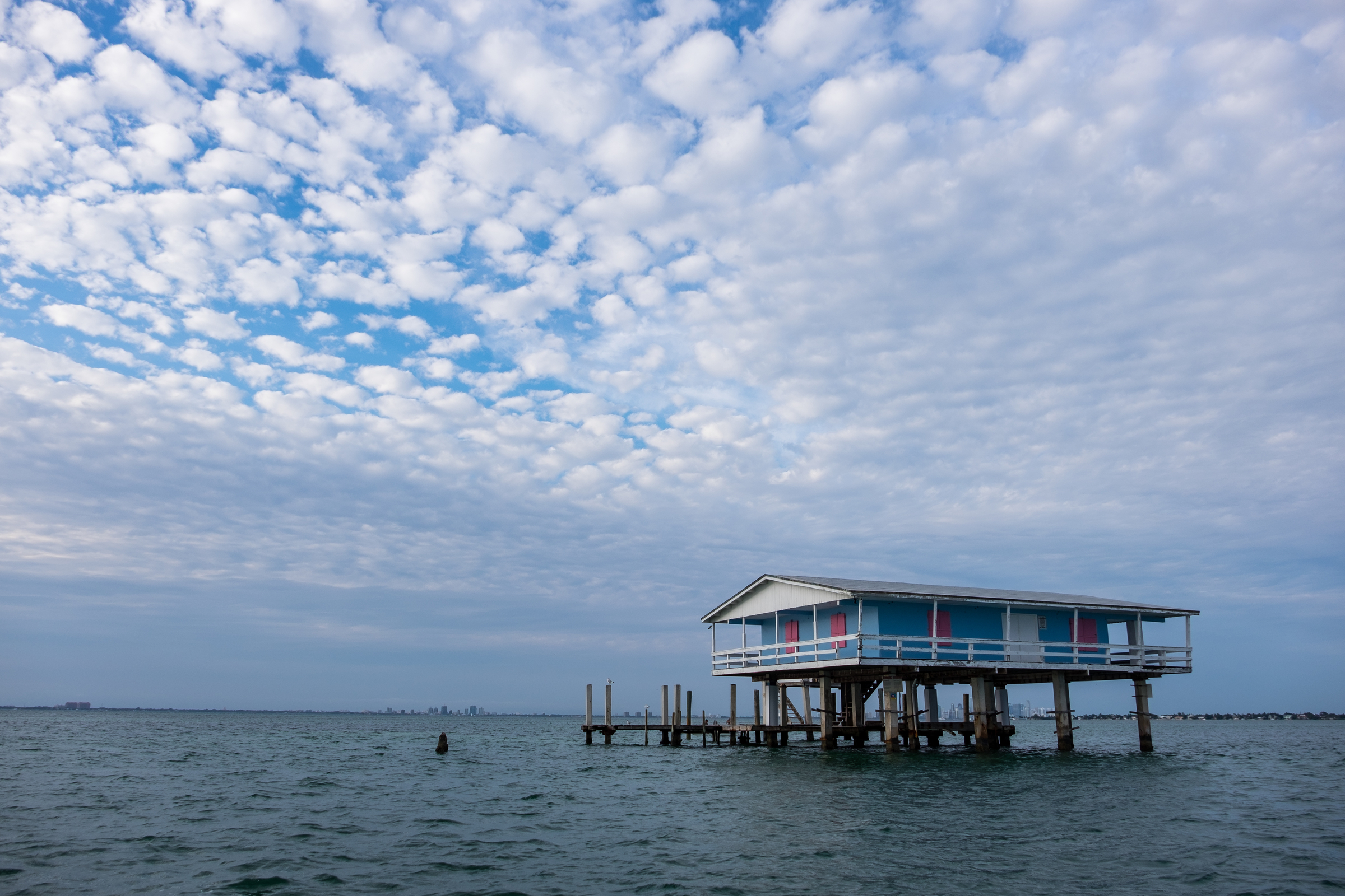 The houses in Stiltsville are still privately owned, even though the reside within the national park.