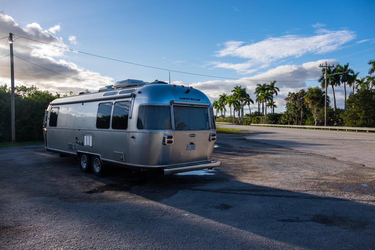 Airstream in the Everglades