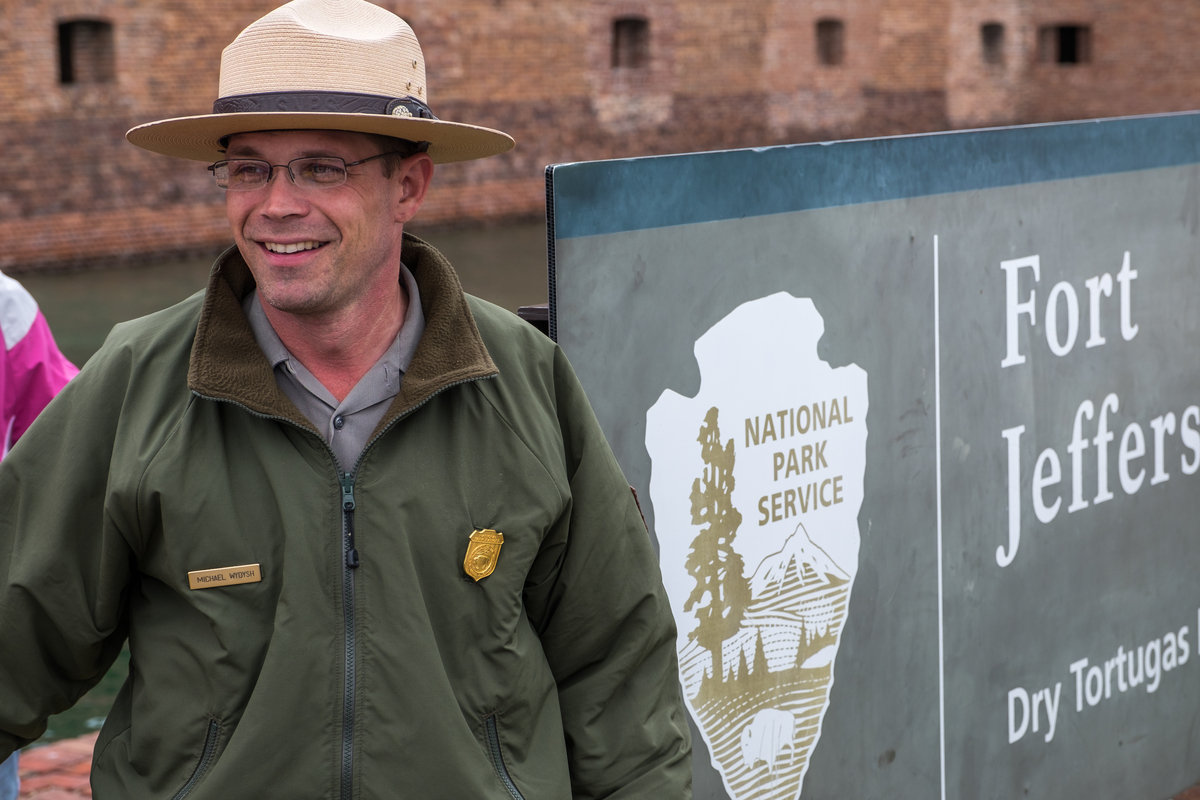 Ranger Mike had us laughing from the moment we arrived until the moment we left the Tortugas. He is a great example of how the Park Service enriches our experiences while in the parks. Credit: Jonathan Irish