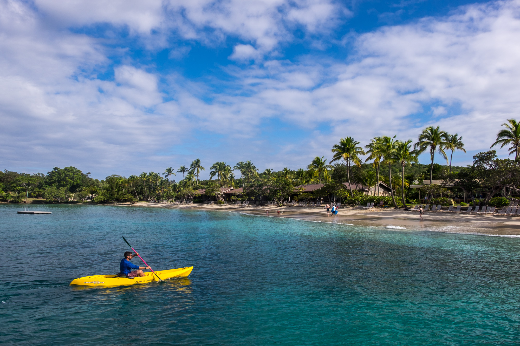 Kayaks, sailboats, and paddleboards were free to use!
