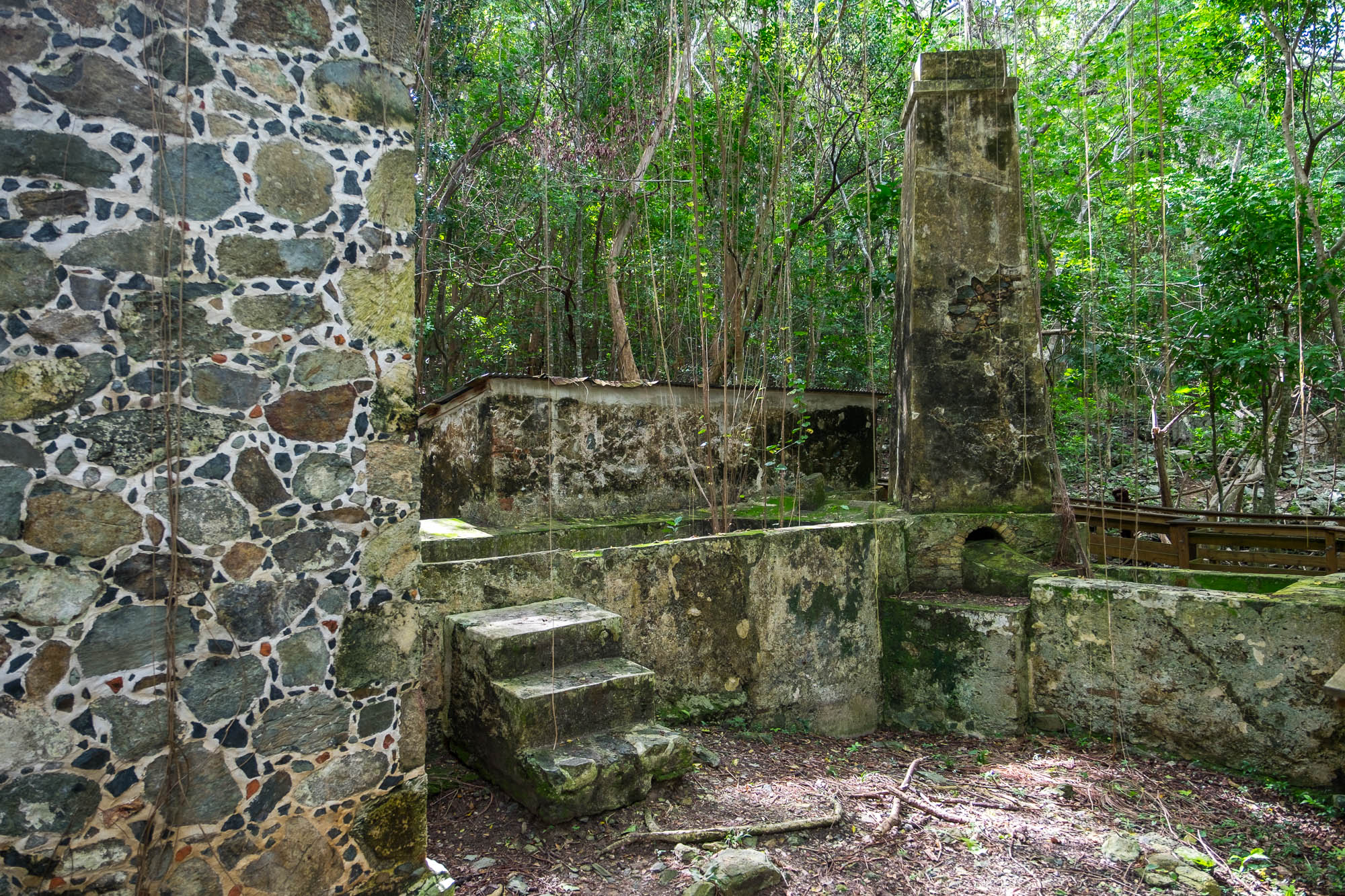 Cinnamon Bay sugarmill ruins....one of the largest and most interesting ruins to explore.