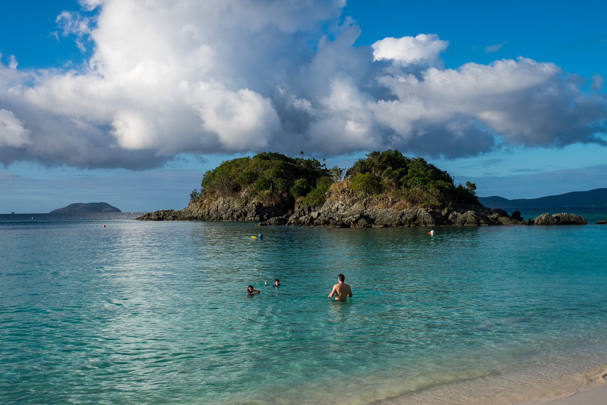 The underwater snorkel trail started right by those outer islands.