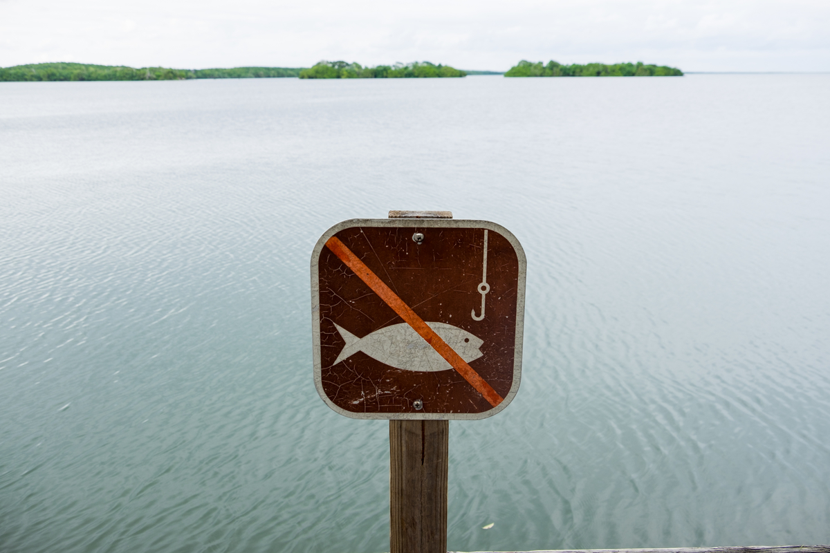 No fishing at Biscayne National Park in Florida.