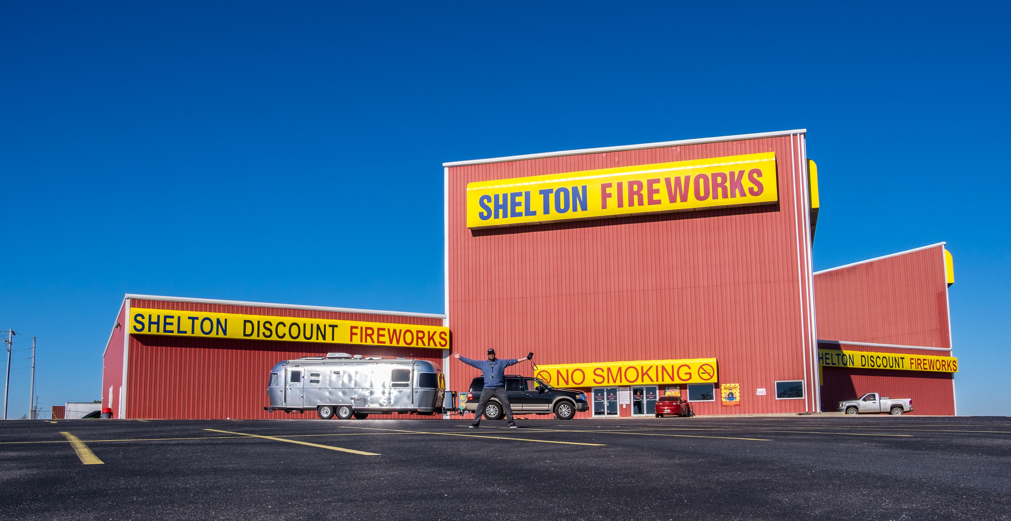 Before arriving in Hot Springs we HAD to stop at this insanely cool fireworks store. Every childhood, and many adulthood, wishes are granted in this store. If you happen to meet up with us somewhere and suddenly hear a very large BANG, you'll know why.