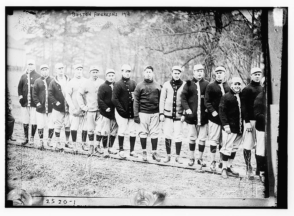 The Red Sox at Spring Training in Hot Springs National Park. Image credit: Library of Congress