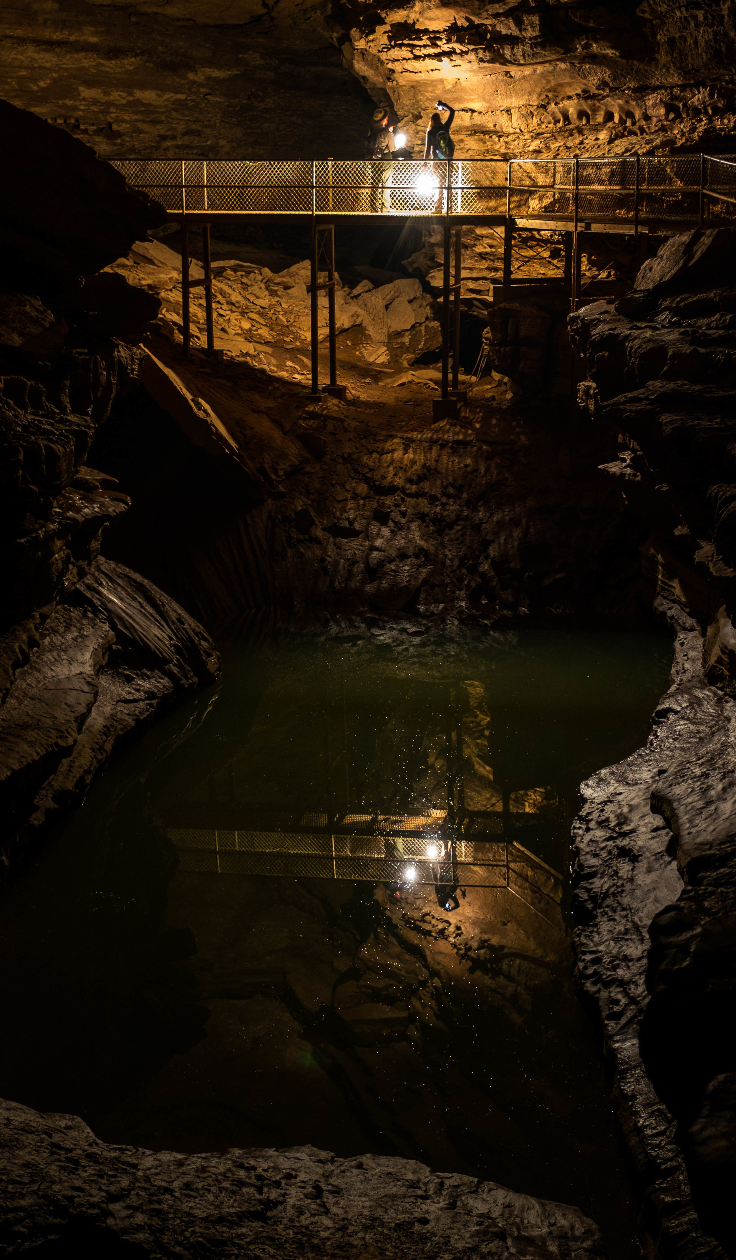 Reflections in the underground water.