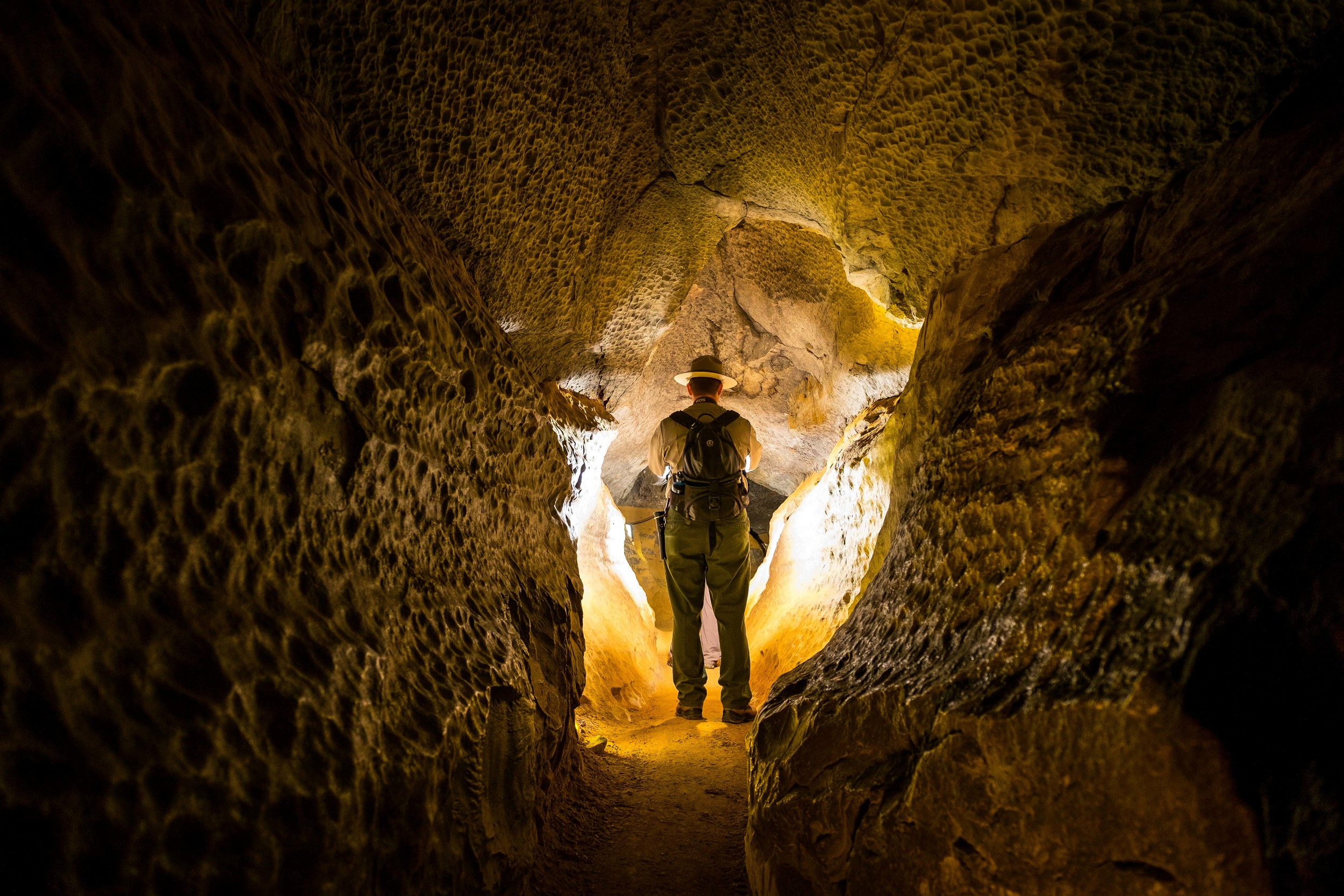 Ranger Jackie showing us the way through the cave system.