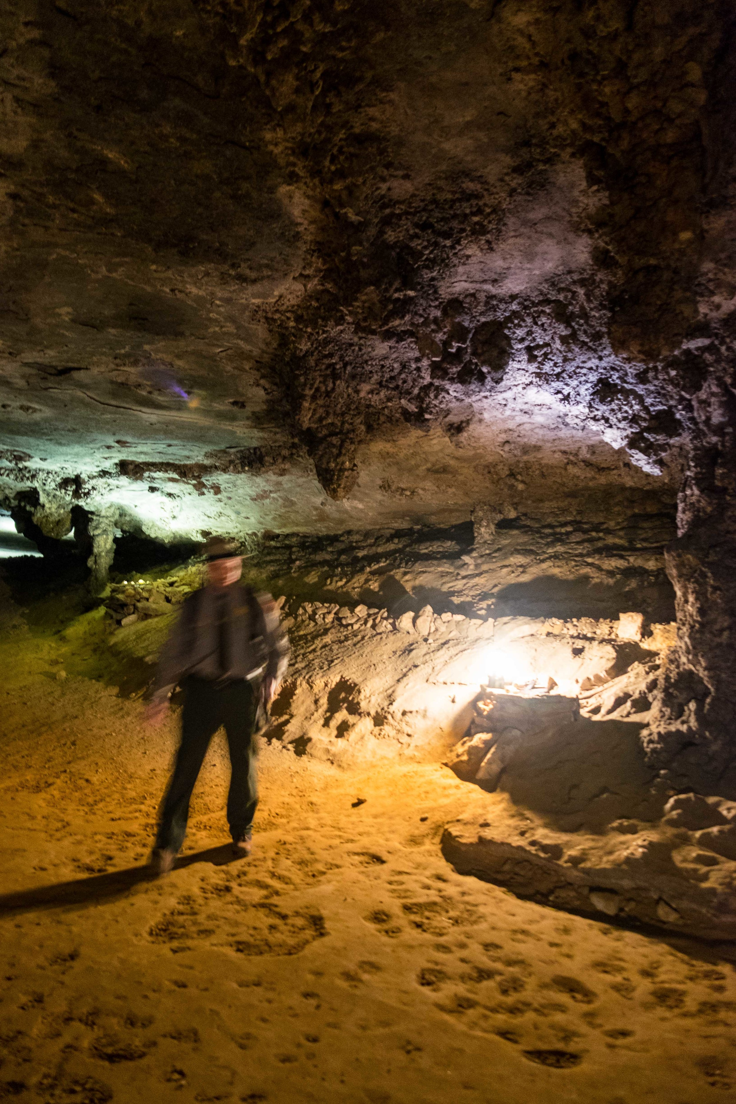 There are over 400 miles of trails to this cave, and we explored just a tiny bit of them.