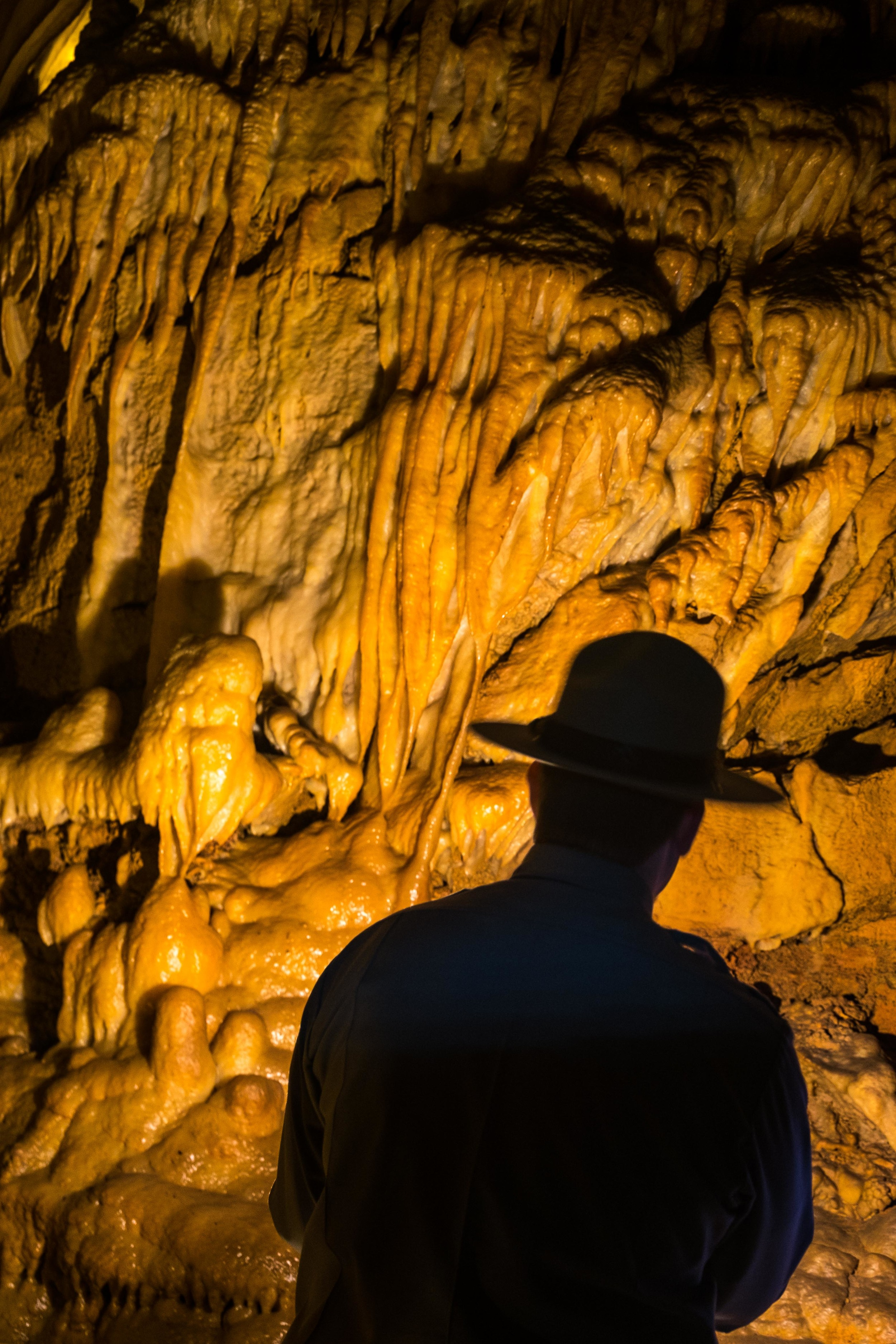 Incredible formations in the cave.