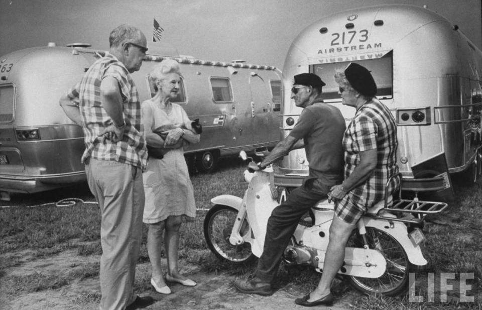 Airstream Caravans helped create a sense of community on the road from the very beginning. Credit: LIFE Magazine / Airstream Inc.