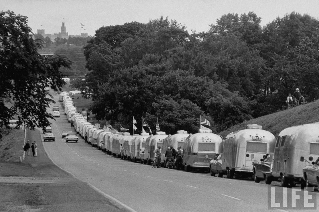 An original Airstream Caravan!Credit: LIFE Magazine / Airstream Inc.