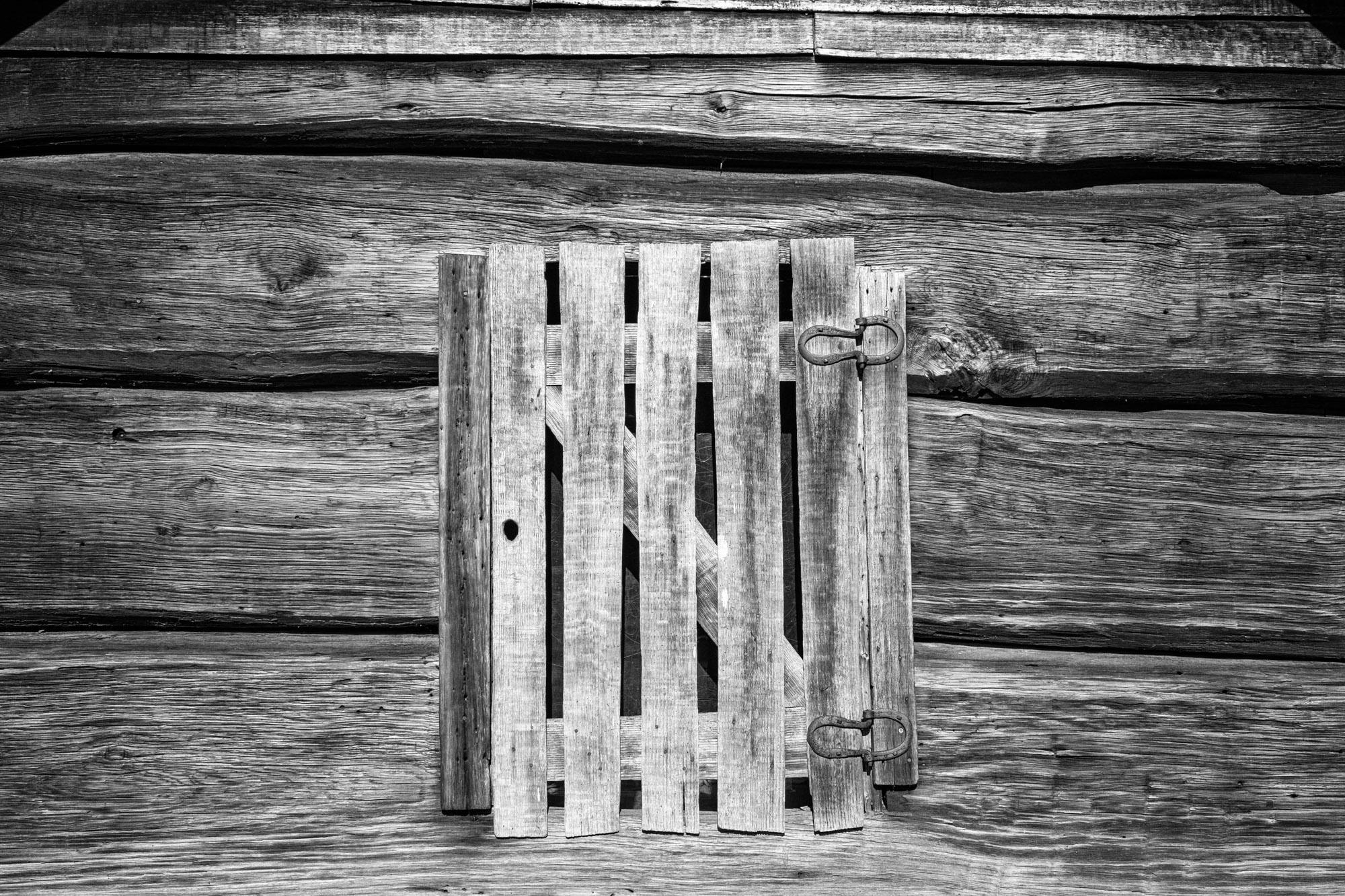 Old barn doors from the settler's days.