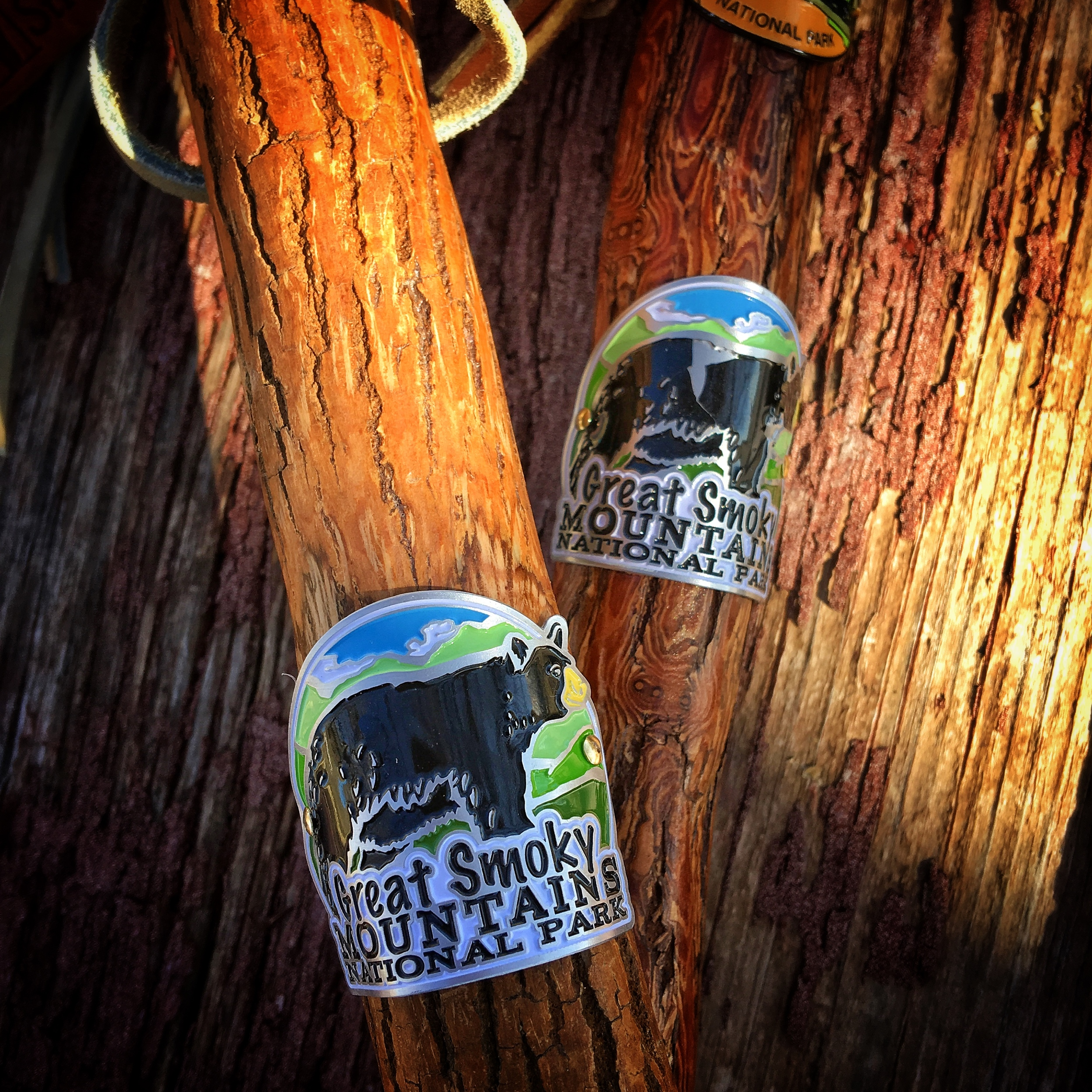 Hiking stick medallions for Great Smoky Mountains National Park