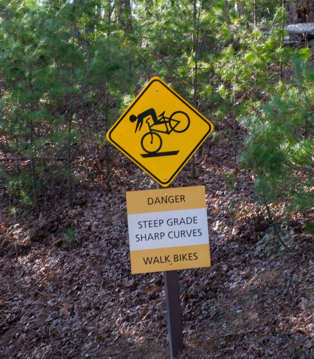 Downward slope for bikers at Cades Coves in the Great Smoky Mountains.