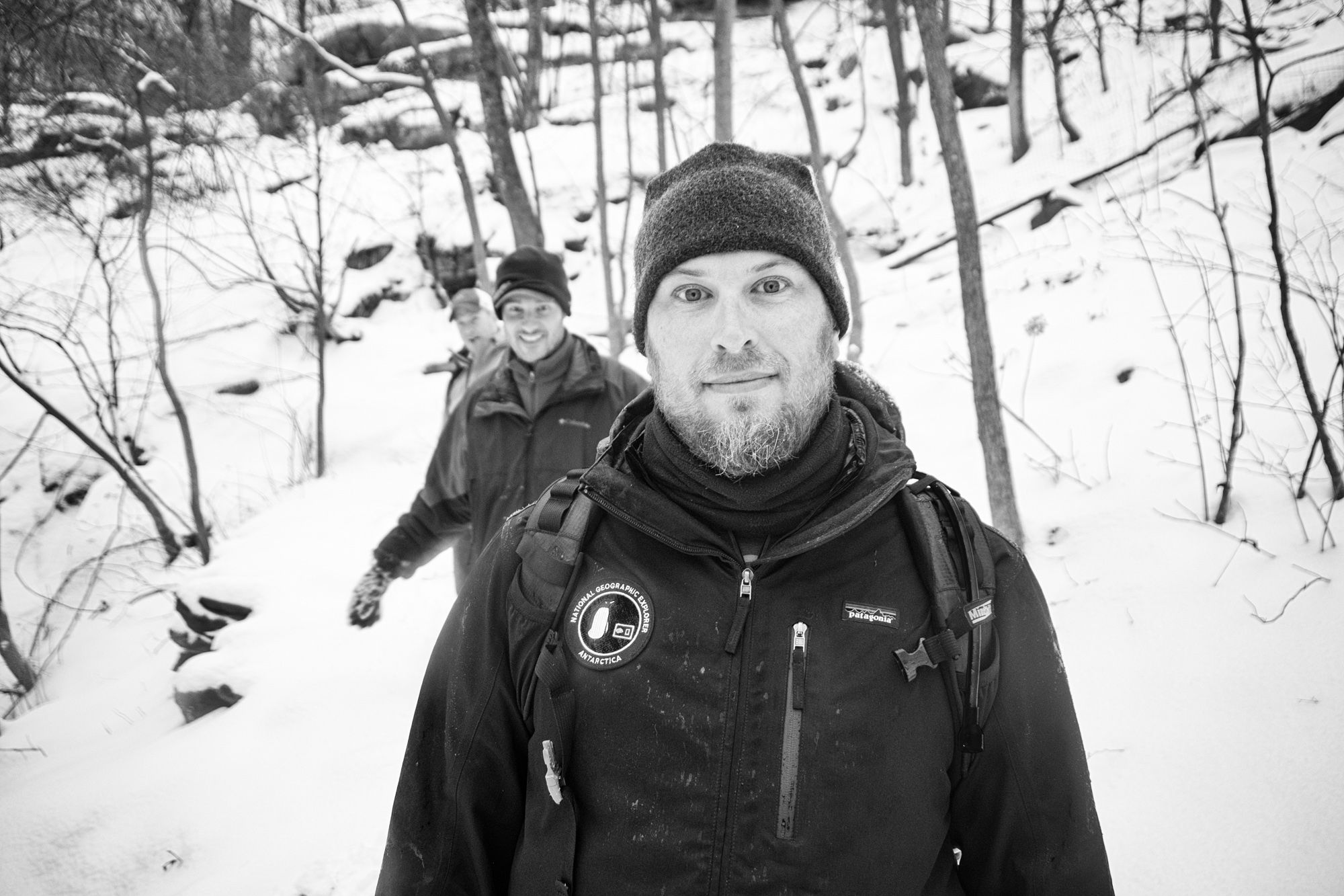 Good friends Scott and Keith, from Nat Geo, came out to hike in the winter with us. Thanks guys! On to the next park....