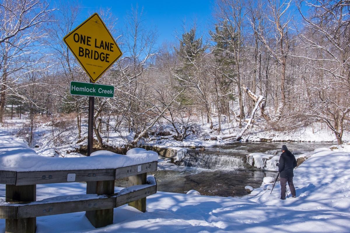 """One Lane Bridge"" at Shenandoah National Park"