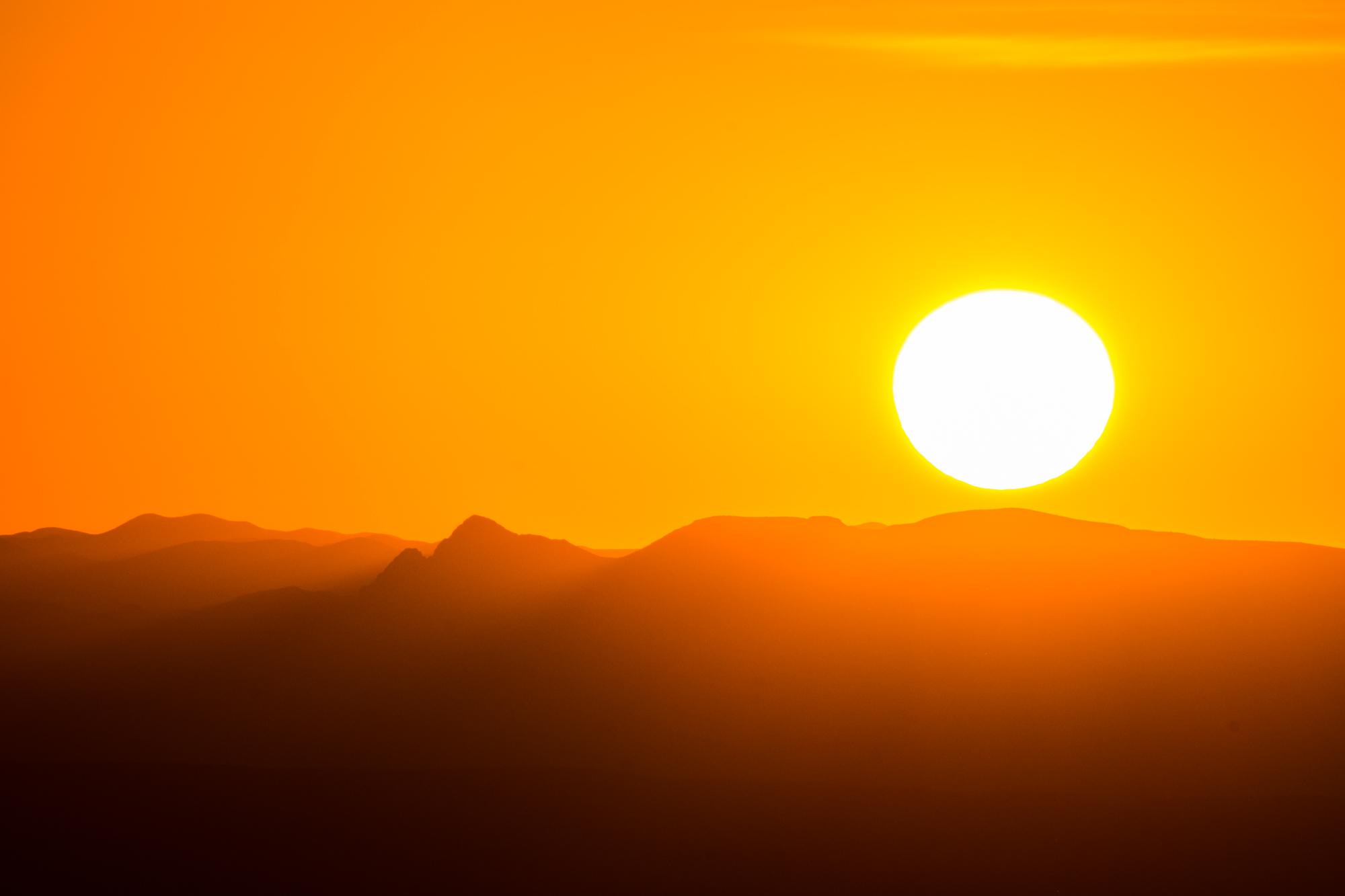 The sun sets upon Big Bend National park.....