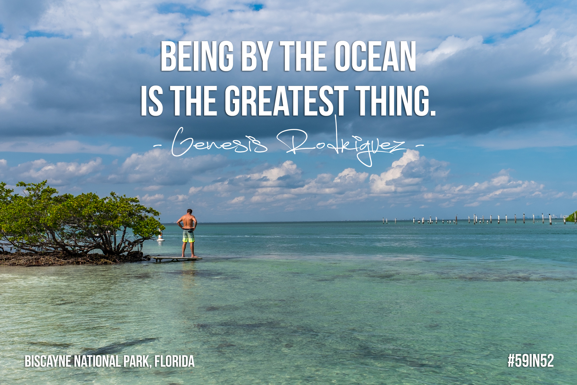 """  Being by the ocean is the greatest thing  ."" - Genesis Rodriguez"