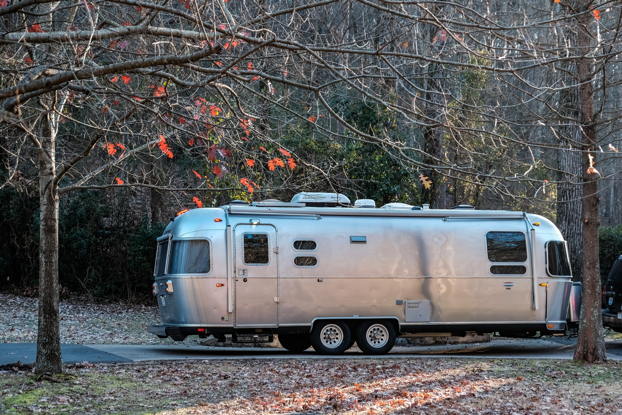 Airstream International Signature on the way to Hot Springs National Park in Arkansas.