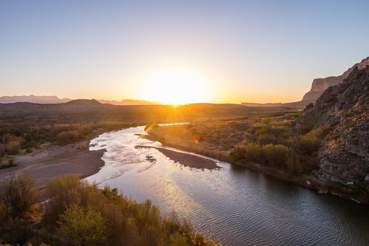 The Rio Grand river in Big Bend National Park.