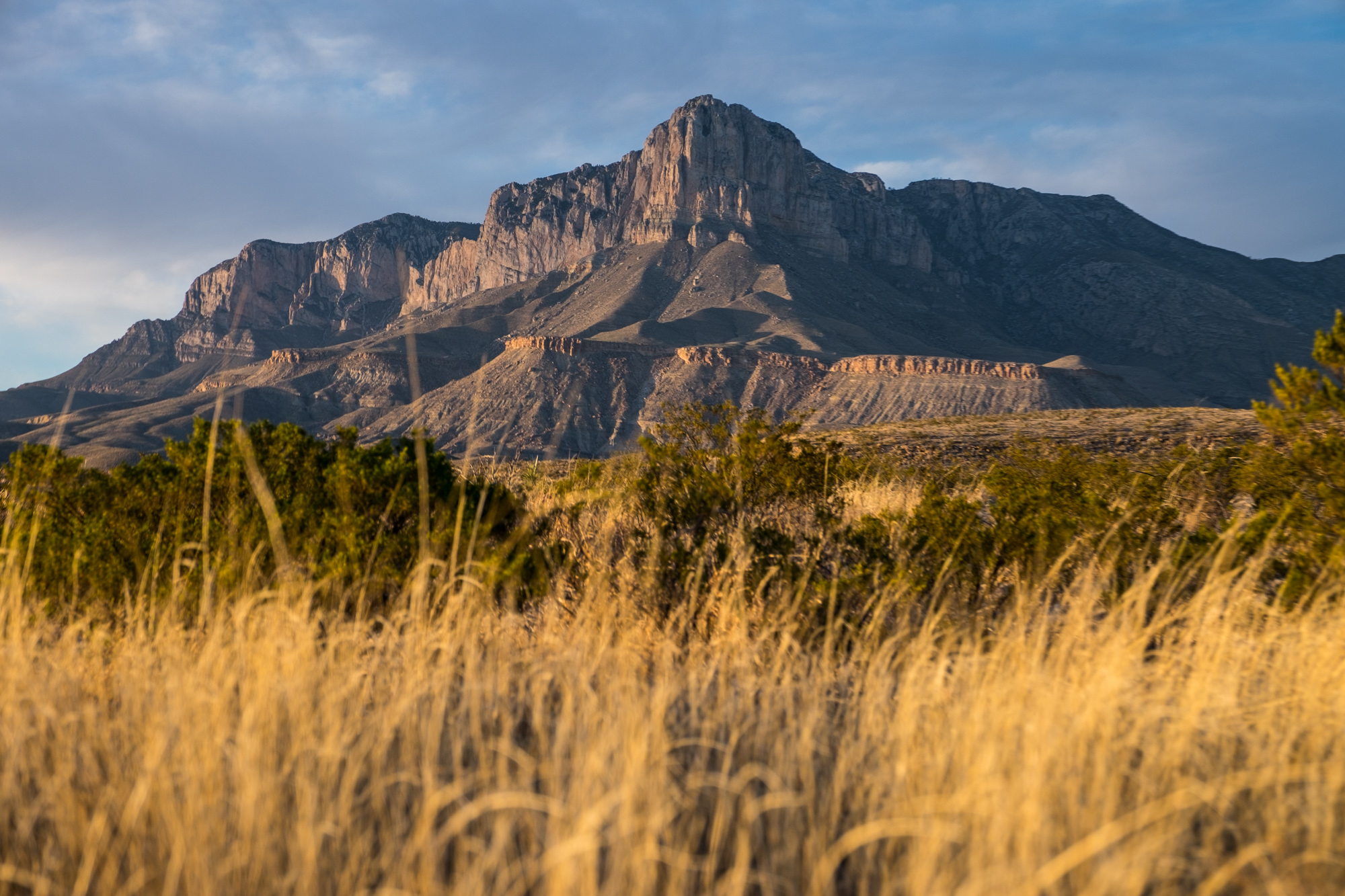 Our first look at the Guadalupe Mountains.....impressive!