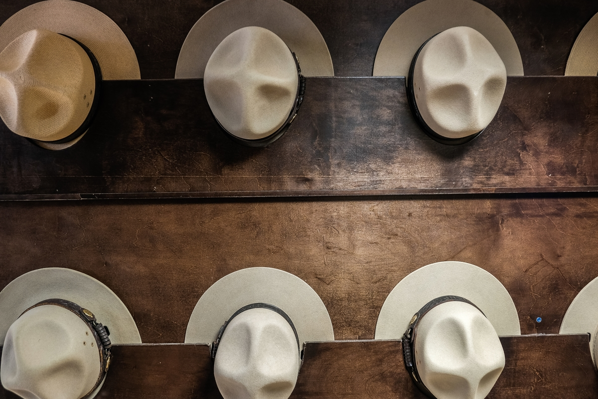 National Park Service ranger hats at Mammoth Cave National Park. | Photo credit: Stefanie Payne #59in52