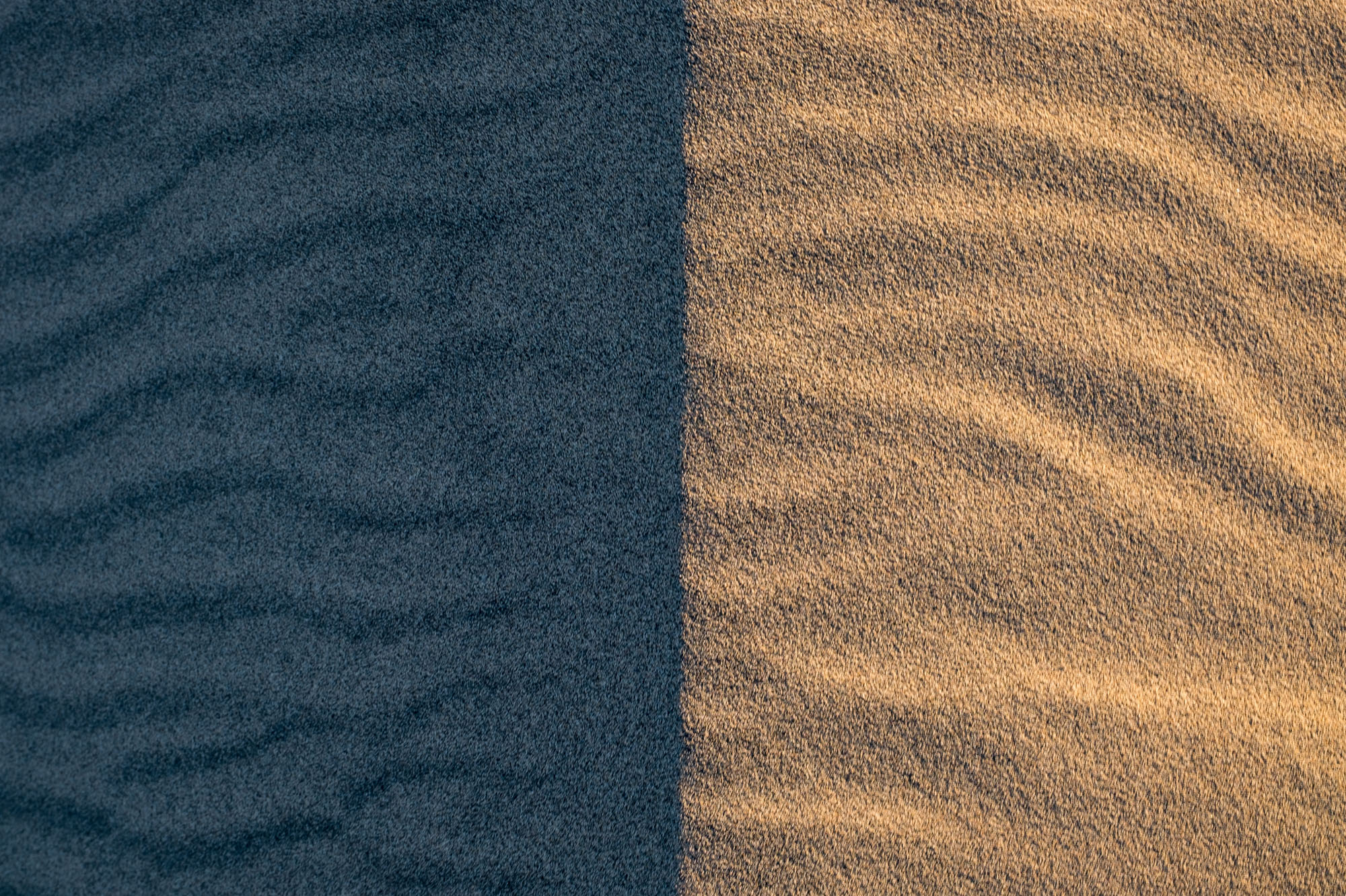 The Mesquite Sand Dunes at sunrise offer so many fun ways to photograph. I love this abstract of the light and shadow on the sand.