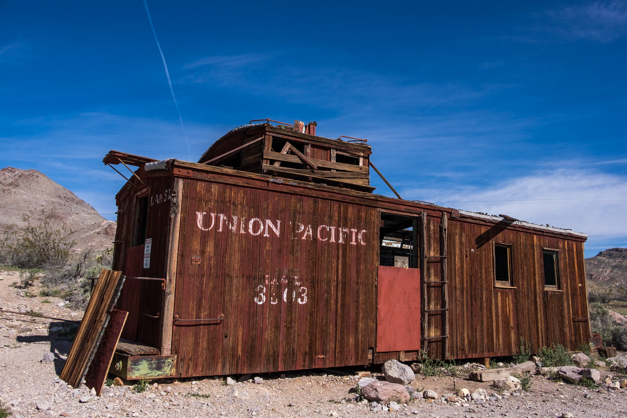 The old ghost town of Rhyolite in Nevada makes for an interesting visit.