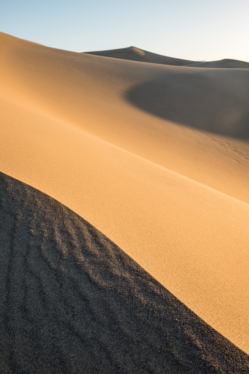 Mesquite Dunes are the highest dunes in the park, the most easily accessible, and look... they are beautiful too!