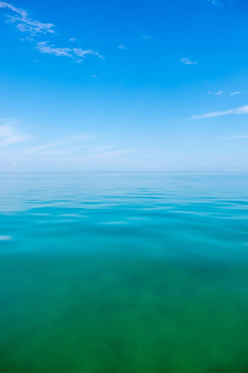The beautiful sea at Biscayne National Park in Florida.