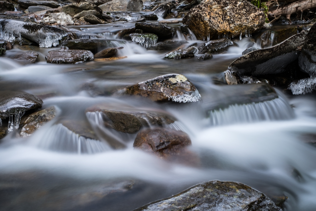 Babbling brook at the Great Smoky Mountains in North Carolina and Tennessee.