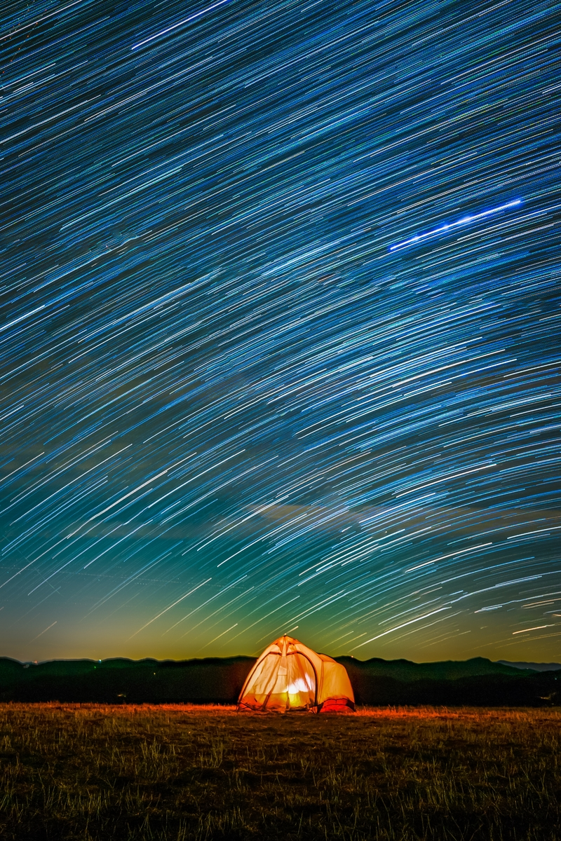 Star trails!Great Smoky Mountains in North Carolina and Tennessee.