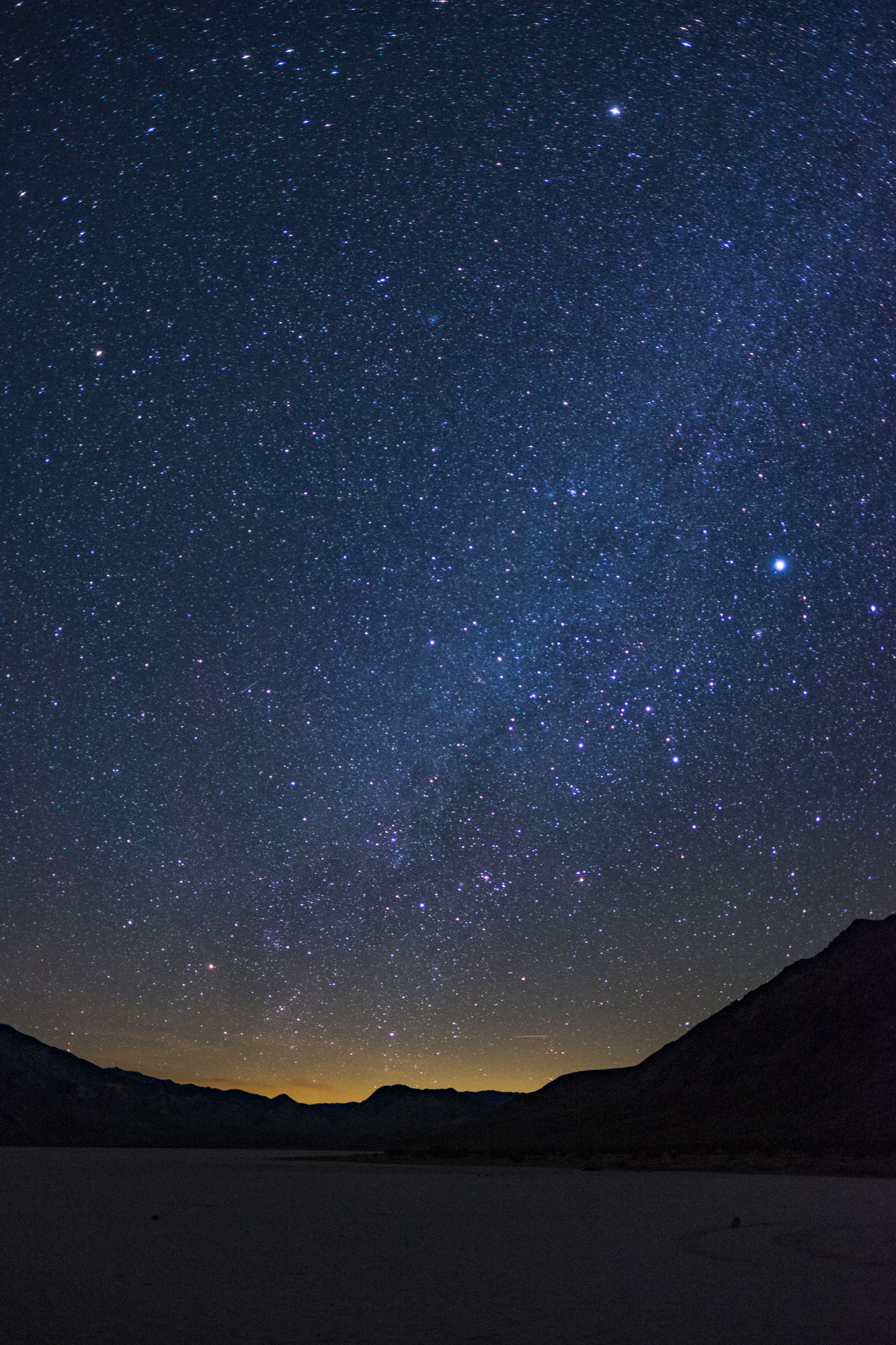 A starry night in Death Valley National Park in California and Nevada.