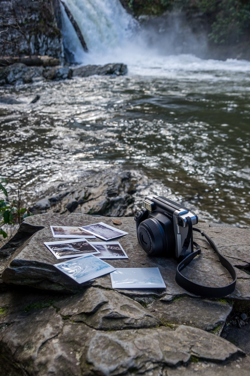 Snapped some pics of my Fujifilm Instax in the Great Smoky Mountains, somewhere between North Carolina and Tennessee.