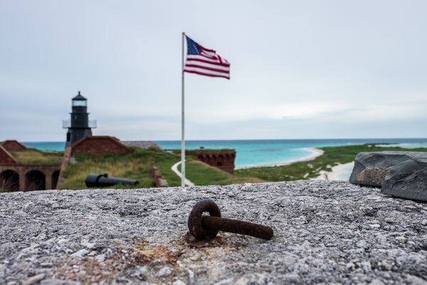 Another symbol of America in Dry Tortugas National Park in Florida.