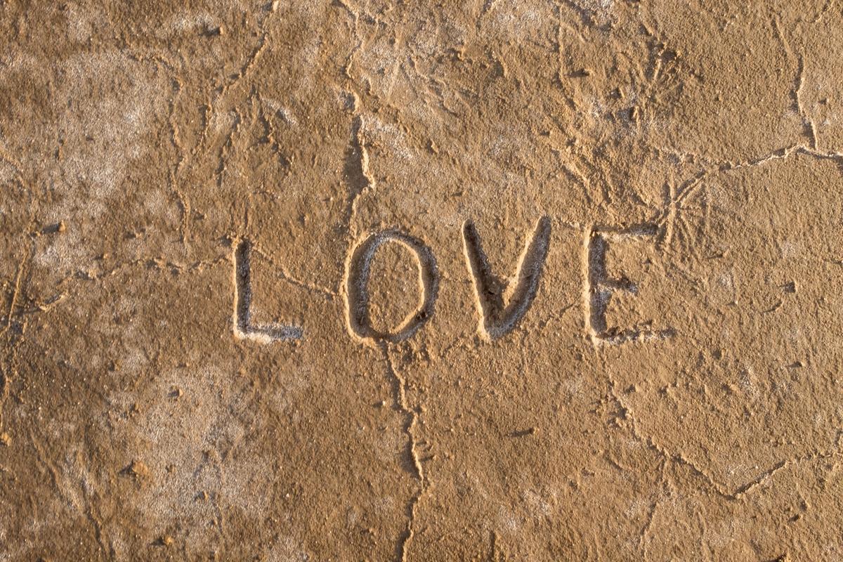 LOVE at Joshua Tree National Park in California.