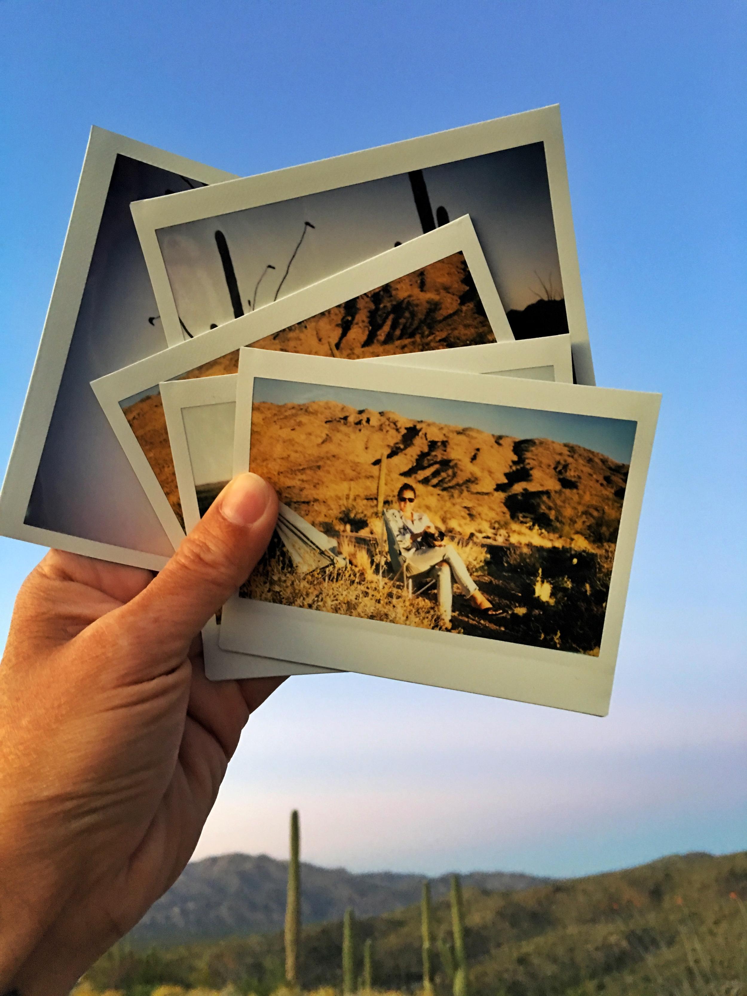 Fujifilm Instax captured in Saguaro National Park East, the Rincon Mountain District, Arizona.