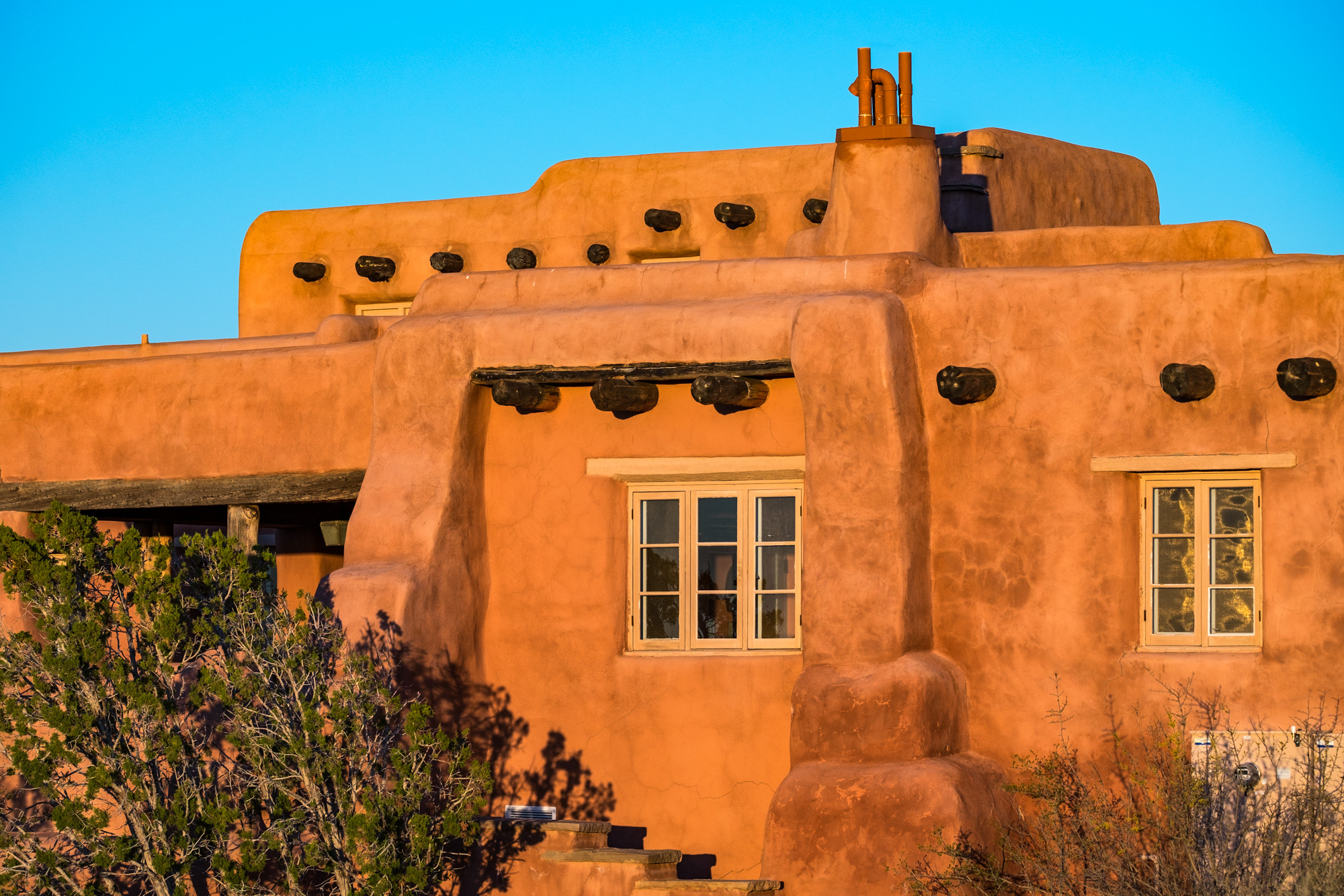The Painted Desert Inn, built in the 1930's, is now a museum and historical site within the park.