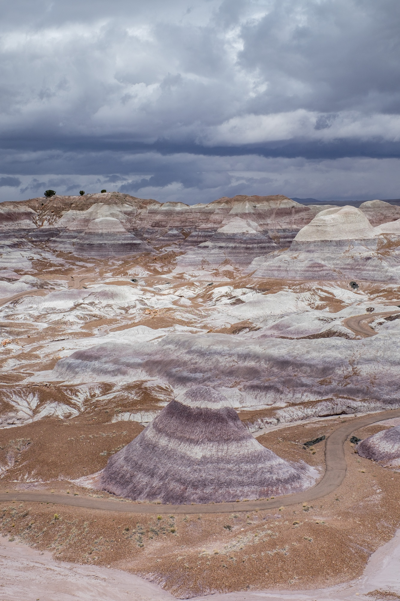 On another visit to Blue Mesa, the clouds made for interesting lighting on the hills.