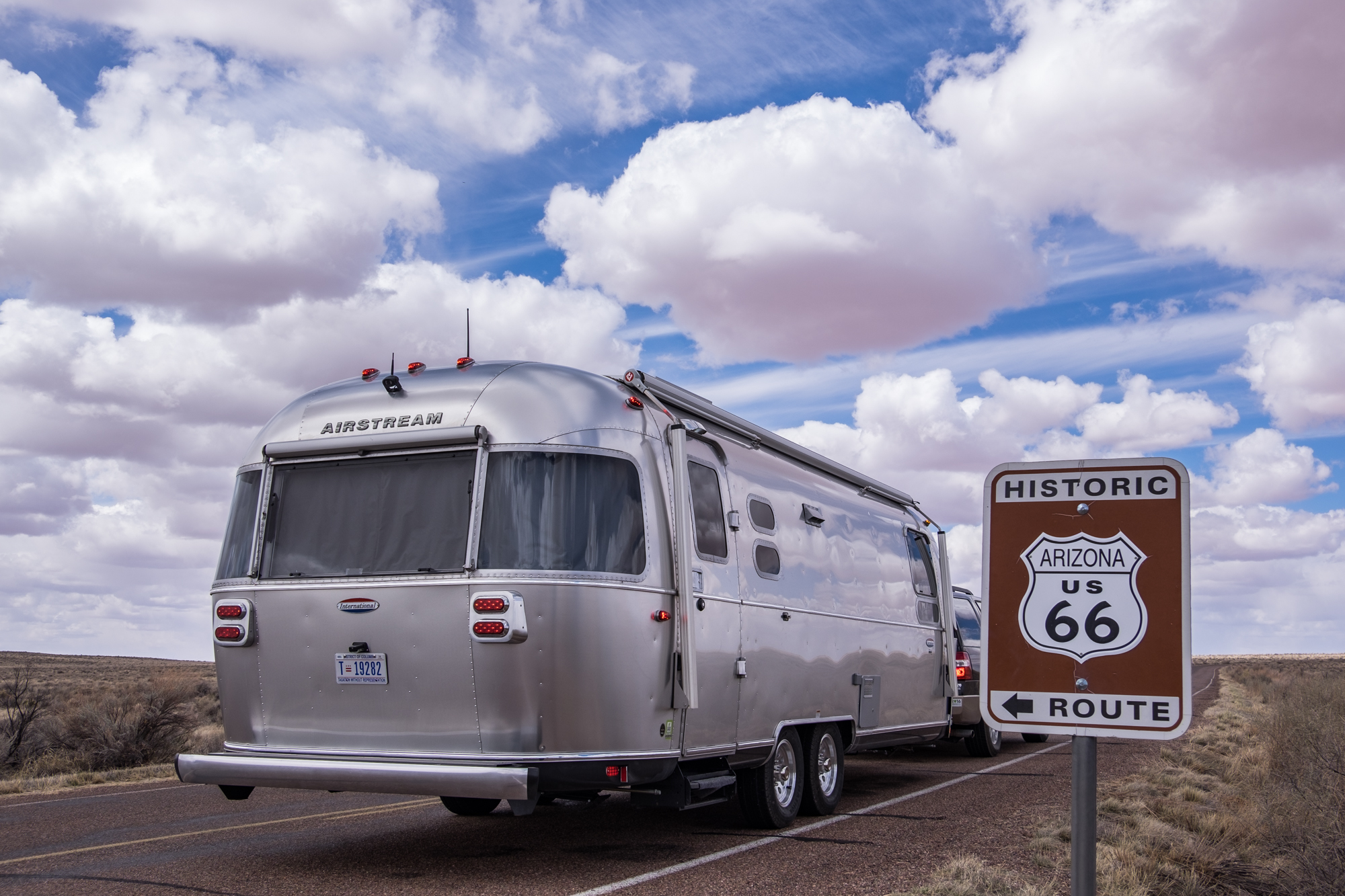 Wally gets his kicks on Route 66! Petrified Forest National Park in Arizona.