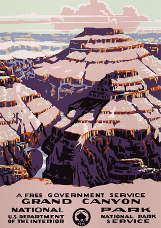 National Park original poster art sketched inspired by the view at Moran Point. Only four original copies of this design are known to exist: one is privately owned, one is with the Library of Congress, and two are in the National Park collections.