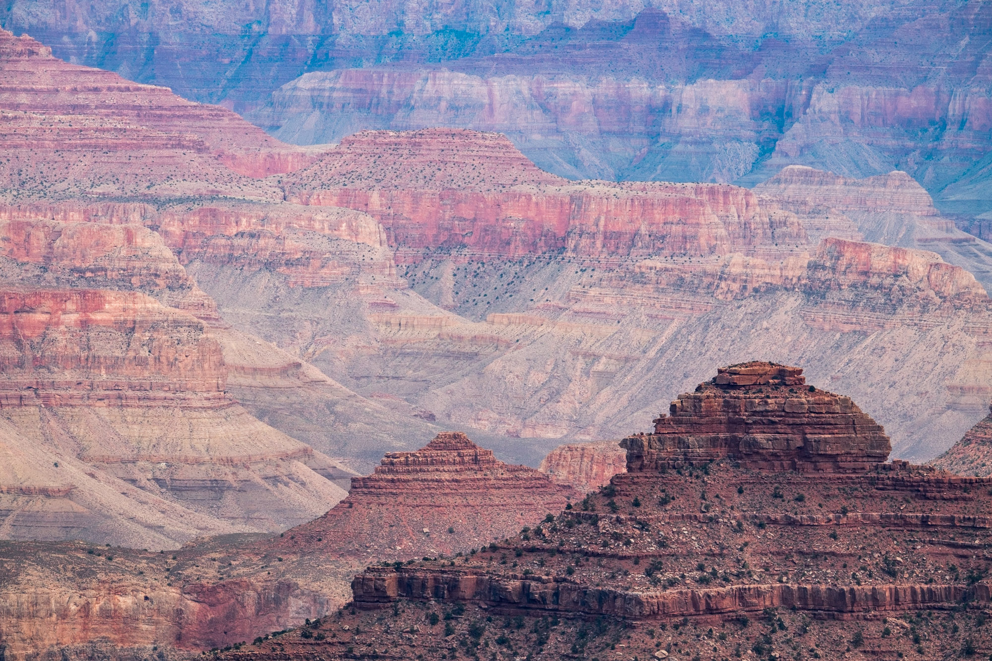 The canyon is made up of many, many layers....all visible from the rim.