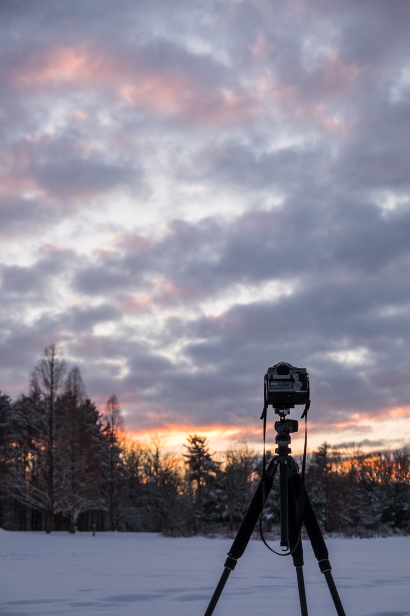 Timelapse setup at Cuyahoga Valley National Park in Ohio.