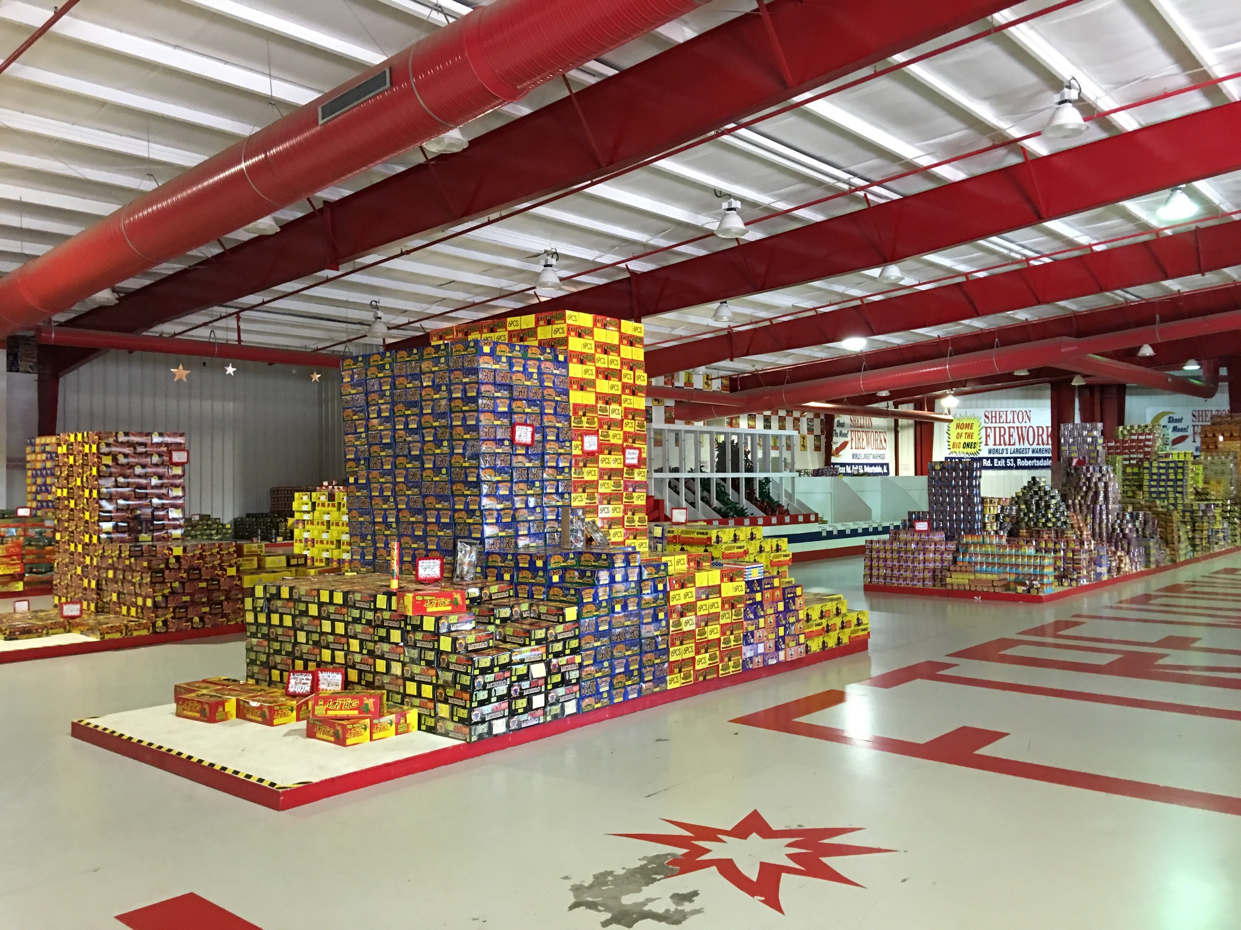 Inside firework mecca, Shelton Fireworks in Alabama.