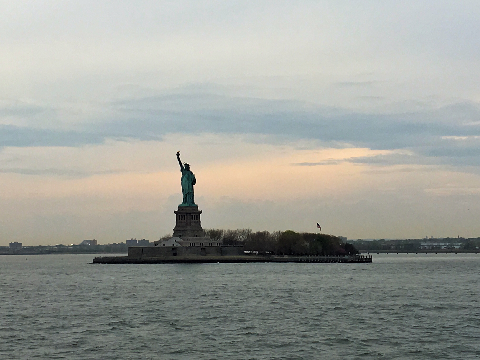 Got onto the Hudson River on the Staten Island Ferry to take in a view of Lady Liberty.