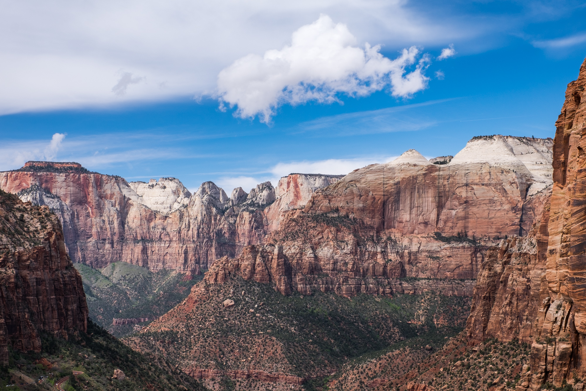 Worth the hike, the light exposure, and braving the tiny parking lot at the trailhead ... the Canyon Overlook undeniably has some of the best views in Zion National Park!