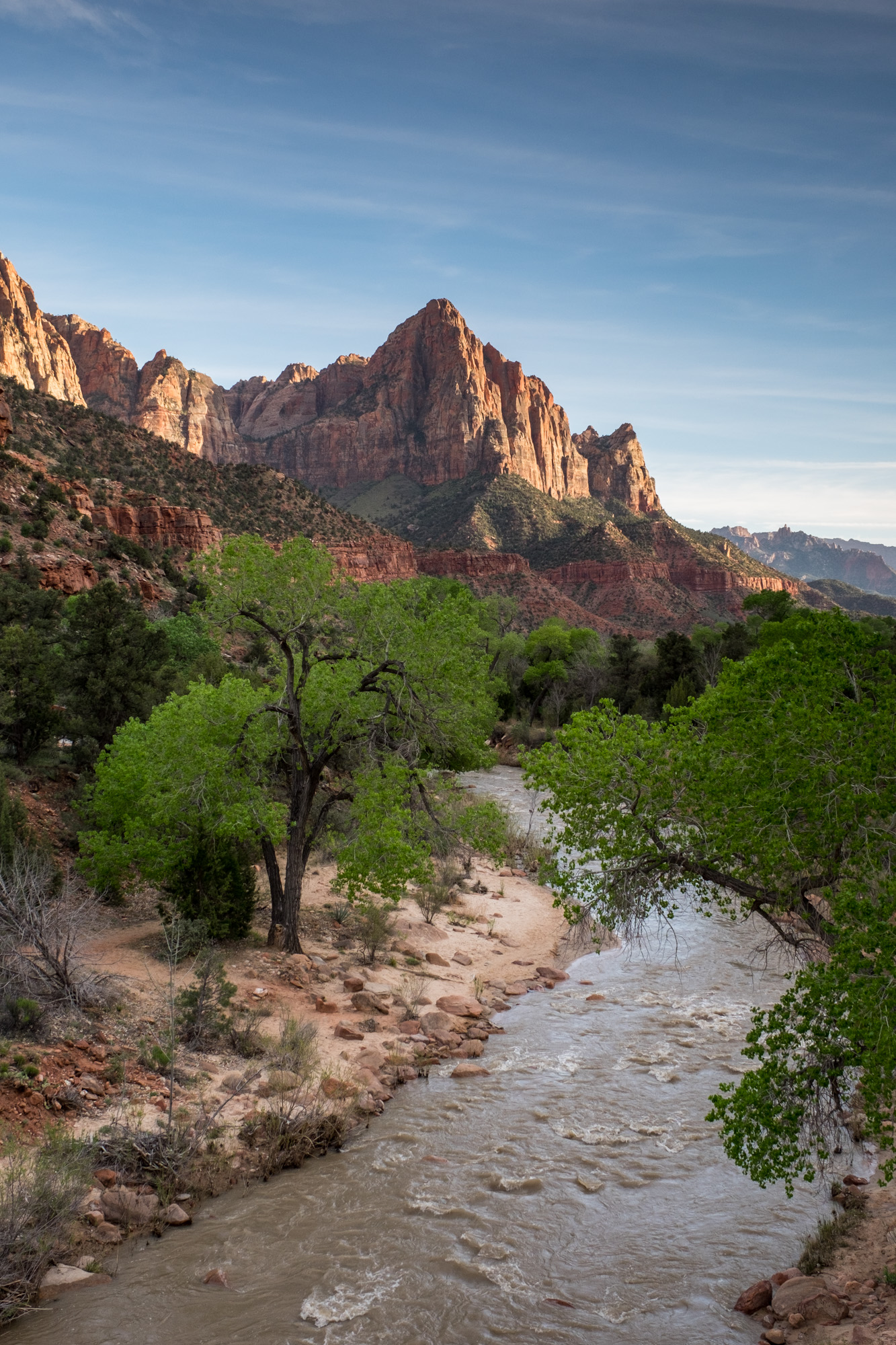 One of the more iconic shots in the park...the Watchman as seen from the Canyon Junction bridge. If you get here for sunset, you can expect to be joined by many other photographers.