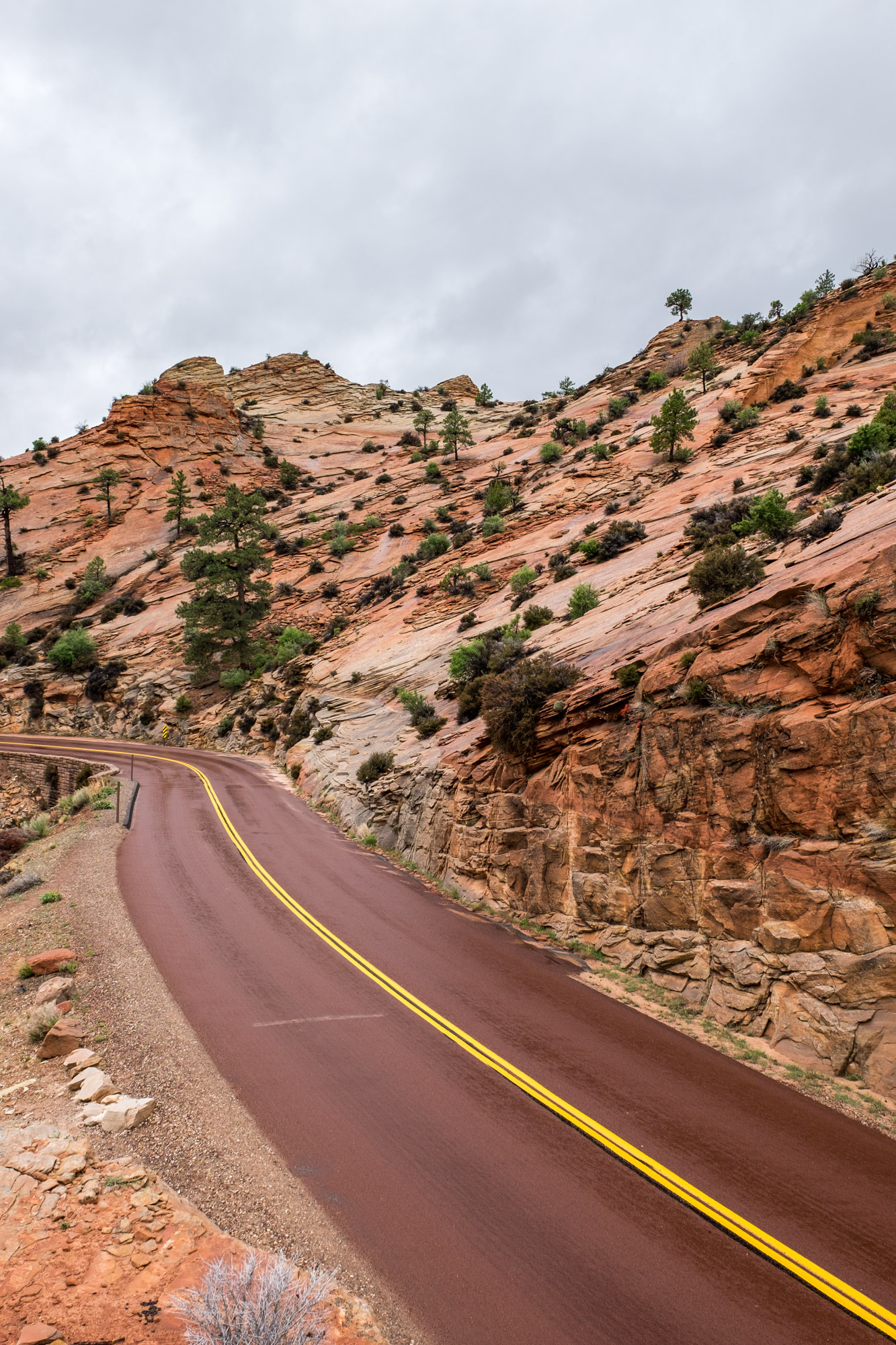 We loved photographing the red roads among the interesting rock formations.